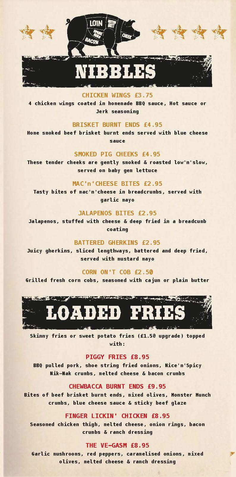 gibsons food menu